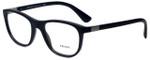 Prada Designer Eyeglasses VPR29S-1BO1O1 in Matte Black 52mm :: Rx Bi-Focal