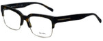 Prada Designer Eyeglasses VPR19R-HAQ1O1 in Matte Havana 56mm :: Rx Single Vision