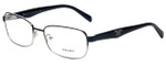 Prada Designer Eyeglasses VPR62O-GAQ1O1 in Black and Silver 55mm :: Rx Single Vision