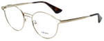 Prada Designer Eyeglasses VPR62T-ZVN1O1 in Antique Gold 50mm :: Rx Single Vision