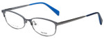Prada Designer Eyeglasses VPR63R-QFM1O1 in Gunmetal 55mm :: Rx Single Vision