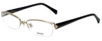 Prada Designer Eyeglasses VPR64N-ZVN1O1 in Gold and Tortoise 54mm :: Rx Single Vision