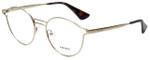 Prada Designer Eyeglasses VPR62T-ZVN1O1 in Antique Gold 50mm :: Progressive