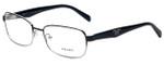 Prada Designer Eyeglasses VPR62O-GAQ1O1 in Black and Silver 55mm :: Rx Bi-Focal