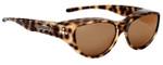 Jonathan Paul® Fitovers Eyewear Medium Chic Kitty in Brown Cheetah & Brown CK002S