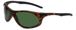 Woolrich Patriot Designer Sunglasses in Tortoise with Green Lens