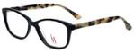 Isaac Mizrahi Designer Eyeglasses M103-01 in Black Tortoise 53mm :: Custom Left & Right Lens