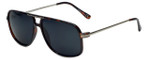 Isaac Mizrahi Designer Sunglasses IMM109-21 in Dark Tortoise with Grey Lens