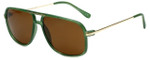 Isaac Mizrahi Designer Sunglasses IMM109-86 in Olive with Brown Lens