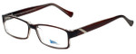 2000 and Beyond Designer Eyeglasses 3072-BRNC in Brown Crystal 56mm :: Progressive