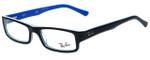 Ray-Ban Designer Eyeglasses RB5246-5151 in Black and Blue 50mm :: Custom Left & Right Lens