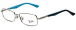 Ray-Ban Designer Eyeglasses RB1035-4017 in Silver Grey Blue 47mm :: Custom Left & Right Lens