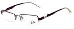 Ray-Ban Designer Eyeglasses RB6156-2628 in Gunmetal Purple 50mm :: Custom Left & Right Lens