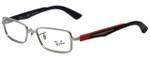 Ray-Ban Designer Eyeglasses RB6250-2620 in Silver Black Red 49mm :: Custom Left & Right Lens