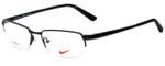 Nike Designer Reading Glasses Nike-6032-001 in Black White 53mm