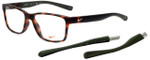 Nike Designer Reading Glasses Nike-7091-INT-200 in Matte Tortoise 54mm