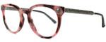 Gucci Designer Eyeglasses GG0219O-005 in Rose Marble 50mm :: Custom Left & Right Lens