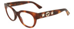 Gucci Designer Eyeglasses GG0209O-002 in Havana 48mm :: Progressive