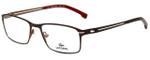 Lacoste Designer Eyeglasses L2167-210 in Satin Brown 53mm :: Progressive