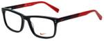 Nike Designer Eyeglasses 7238-015 in Black Team Red 52mm :: Progressive