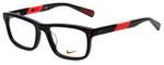 Nike Designer Eyeglasses 5536-015 in Black Hyper Punch 46mm Kids Size :: Custom Left & Right Lens