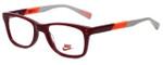 Nike Designer Eyeglasses 5538-605 in Team Red Bright Crimson 46mm Kids Size :: Custom Left & Right Lens