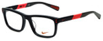 Nike Designer Reading Glasses 5536-015 in Black Hyper Punch 46mm Kids Size