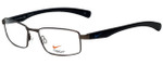 Nike Designer Eyeglasses Nike-4257-034 in Brushed Gunmetal Black 53mm :: Progressive