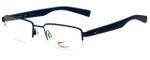 Nike Designer Eyeglasses Nike-4260-423 in Satin Blue Midnight Navy 51mm :: Progressive