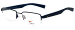Nike Designer Reading Glasses Nike-4260-423 in Satin Blue Midnight Navy 51mm