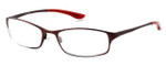 Bollé Versailles Designer Reading Glasses in Satin Brown & Red