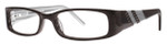 Calabria Viv 659 Black Designer Eyeglasses :: Custom Left & Right Lens