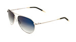 Oliver Peoples Sunglasses Benedict Metal Aviator in Silver & Photochromatic Blue Lens