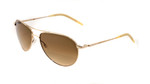 Oliver Peoples Sunglasses Benedict Metal Aviator in Gold & Amber Lens