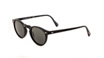 Oliver Peoples Sunglasses Gregory Peck in Matte Black & Polarized Grey Lens