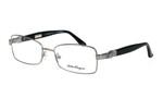 Salvatore Ferragamo Designer Reading Glasses 2106 in Silver-Black