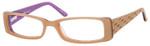 Seventeen Designer Reading Glasses 5352 in Coral-Sky :: Custom Left & Right Lens