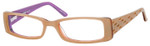 Seventeen Designer Reading Glasses 5352 in Coral-Sky :: Rx Single Vision
