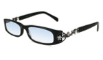 Calabria 839 Dazzles Crystals Eyeglasses in Black :: Rx Single Vision