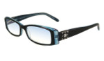 Calabria 840 Dazzles Crystals Reading Glasses in Blue :: Custom Left & Right