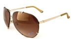 Bebe Eyewear 7032 Designer Sunglasses in Gold