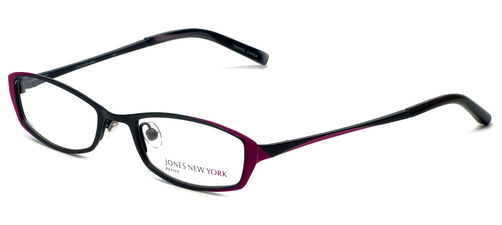 Designer Glasses Frames New York : Jones New York Designer Eyeglasses J122 Black :: Rx Single ...