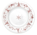 Juliska Country Estate Winter Frolic Ruby Round Dinner Plate 11 in CE01/73