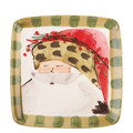Vietri Old St. Nick Square Salad Plate 8.25 in. OSN_7801C