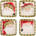 Vietri Old St. Nick Assorted Square Salad Plate 8.25 in. (Set of 4) OSN_7801