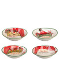 Vietri Old St. Nick Assorted Oval Bowls 8x7 in. (Set of 4) OSN_7804