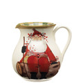 Vietri Old St. Nick Round Body Pitcher 7.75 in. 10 cups OSN_7815