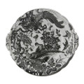 Royal Crown Derby Black-Aves-Platinum-Eared-Cake-Plate-9-in BLAVP00132