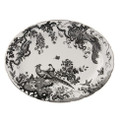 Royal Crown Derby Black-Aves-Platinum-Oval-Platter-15-in. BLAVP00108