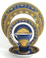 Versace Medusa Blue 5-piece place setting